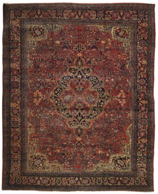 An antique Feraghan carpet