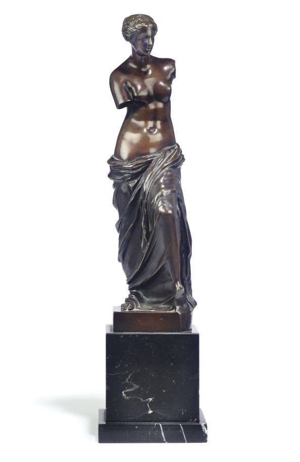 A GERMAN BRONZE FIGURE OF THE