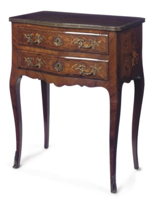 A FRENCH ROSEWOOD, KINGWOOD AN