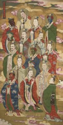 A CHINESE BUDDHISTIC SCROLL