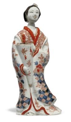 A JAPANESE IMARI HANAIKE WALL