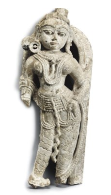 AN INDIAN STONE FIGURE OF A TE