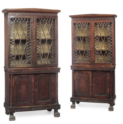 A PAIR OF CHINESE-EXPORT OAK A