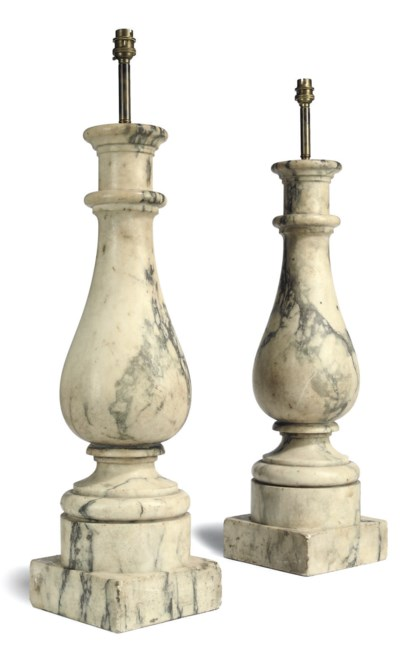 A PAIR OF ITALIAN MARBLE TABLE