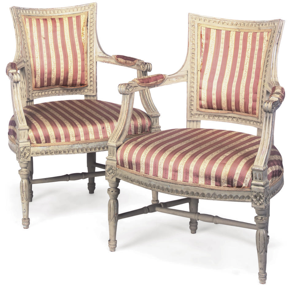 A PAIR OF GUSTAVIAN WHITE-PAIN