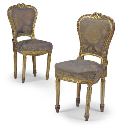 A PAIR OF FRENCH GILTWOOD SIDE