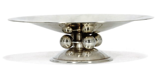 A FRENCH ART DECO ELECTROPLATE