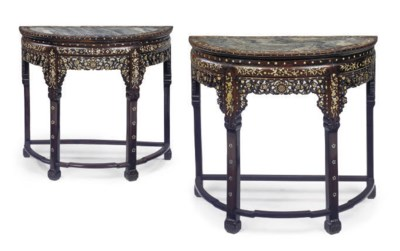 A PAIR OF CHINESE DEMI-LUNE TA