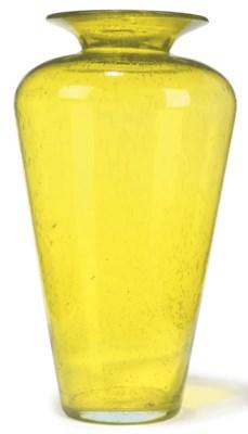AN ITALIAN TINTED GLASS VASE