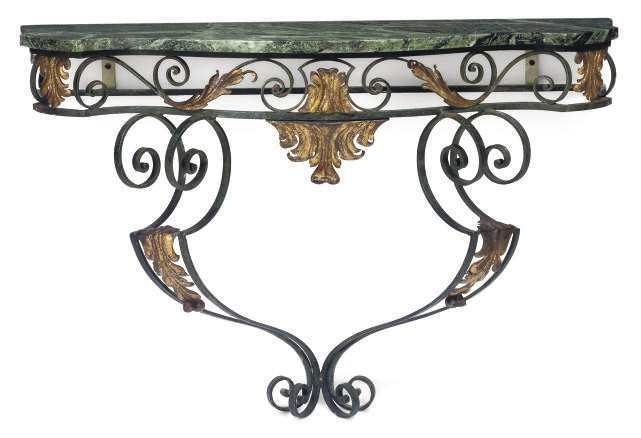A FRENCH WROUGHT-IRON AND PARC