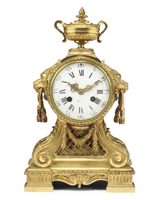A French gilt-brass striking e