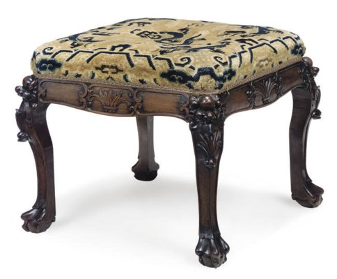A CHINESE HARDWOOD STOOL