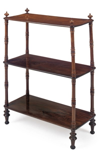 AN EARLY VICTORIAN ROSEWOOD TW