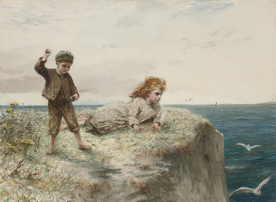 On the cliffs