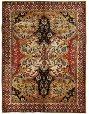 A fine tufted carpet of Polona