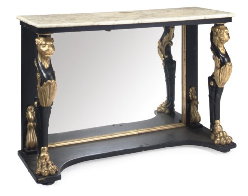 AN EBONISED AND PARCEL-GILT CO