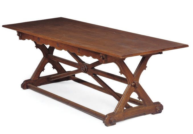 AN EARLY VICTORIAN OAK REFECTO