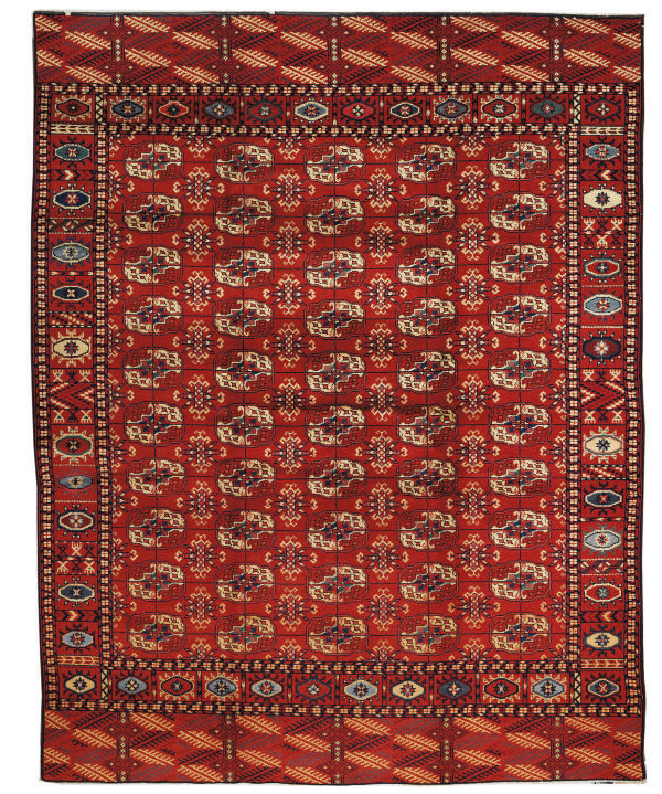 An unusual European carpet of