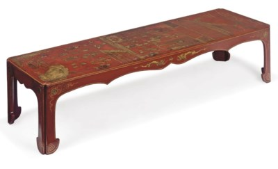 A SCARLET LACQUER AND CHINOISE