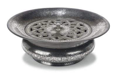 AN INDIAN BIDRIWARE SILVER-INL