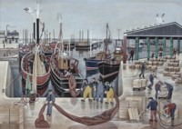 Fishing fleet in the harbour