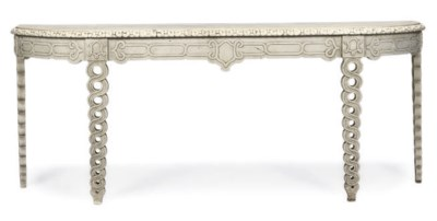 A WHITE PAINTED CONSOLE TABLE