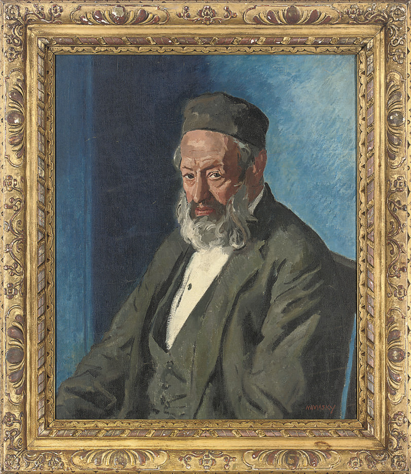 Portrait of a Rabbi, seated half-length