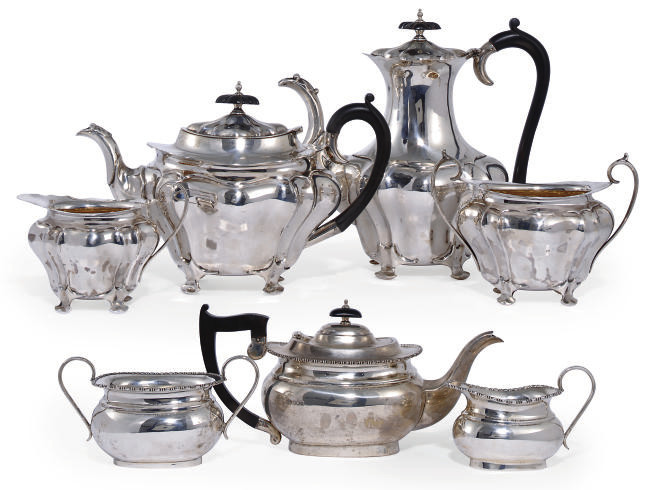 AN EDWARDIAN SILVER FOUR-PIECE