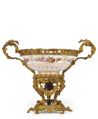 A SEVRES ORMOLU-MOUNTED BOWL