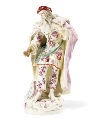 A DERBY FIGURE OF ST. PHILIP