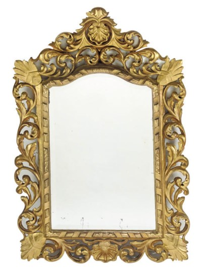 A FLORENTINE CARVED GILT WOOD