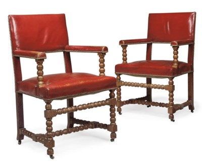 A PAIR OF LATE VICTORIAN OAK A