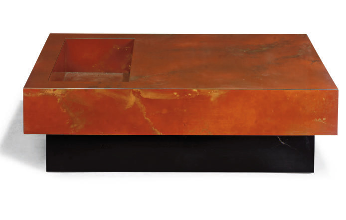A FRENCH LACQUERED LOW TABLE