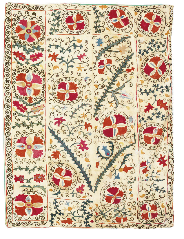 A SUSANI OR DOWRY EMBROIDERY