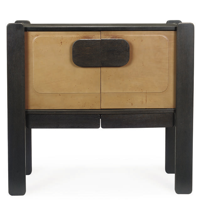 A BLACK STAINED AND LEATHER CO