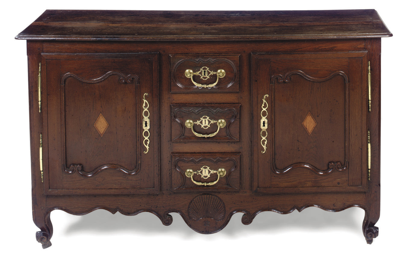 A FRENCH PROVINCIAL OAK BUFFET