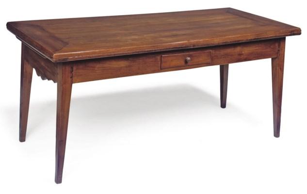 A FRENCH CHERRY DRAW-LEAF TABL