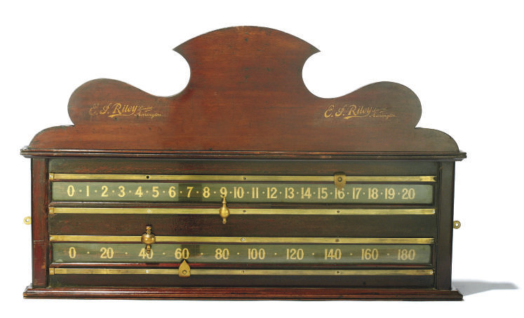 A LATE VICTORIAN SNOOKER SCORE