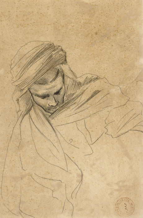 Study of a man in a turban