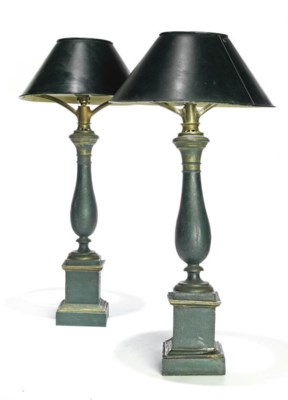 A PAIR OF FRENCH TOLE-PEINTE S