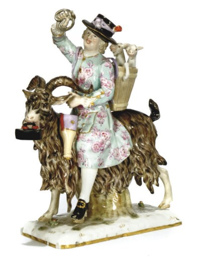 A MEISSEN FIGURE OF THE WELSH