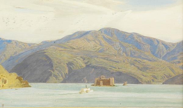 Castle on an Italian Lake