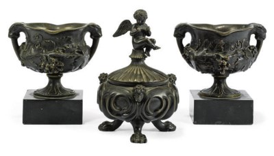 A PAIR OF EARLY VICTORIAN BRON