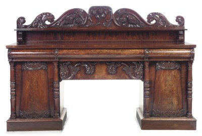A SCOTTISH VICTORIAN CARVED MA