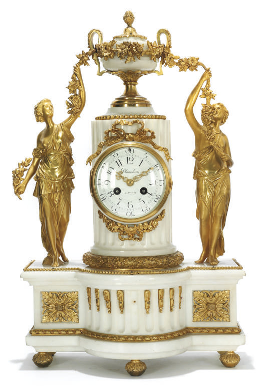 A FRENCH GILT-BRASS MOUNTED WH