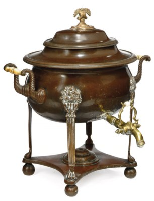 A REGENCY COPPER AND BRASS HOT