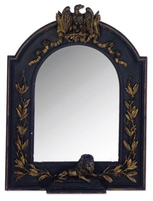 AN EBONISED AND PARCEL-GILT CA