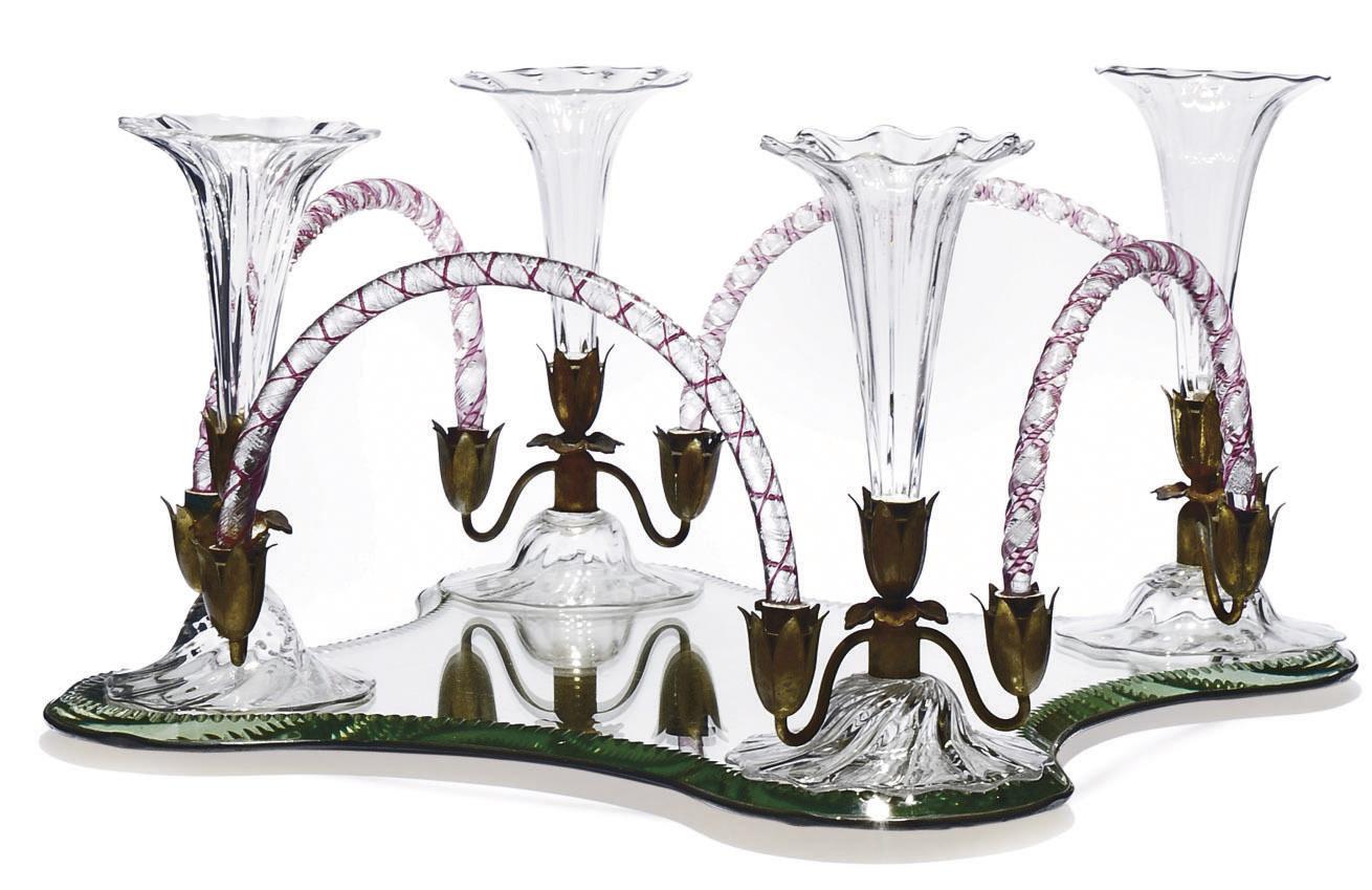 A GLASS CENTREPIECE