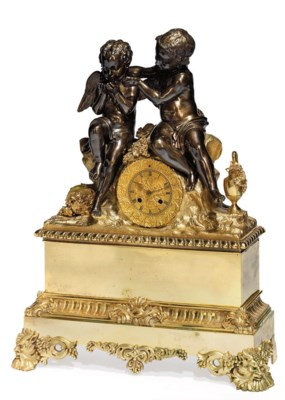 A LOUIS PHILIPPE BRONZE AND PA