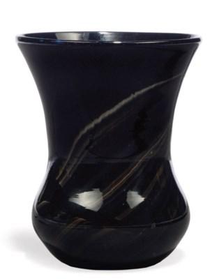 AN 'AGATE' GLASS BEAKER